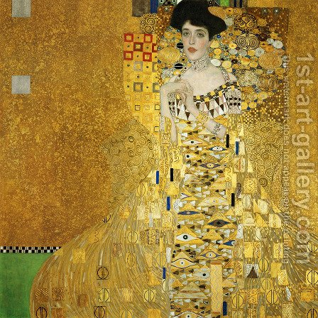 Gustav Klimt: Portrait Of Adele Bloch Bauer I - reproduction oil painting