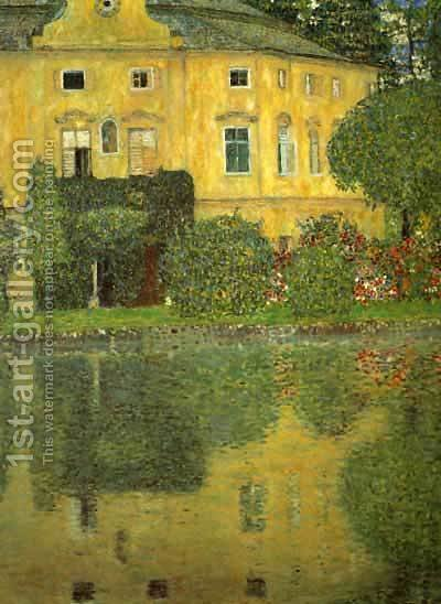 Gustav Klimt: Schlob Kammer On The Attersee - reproduction oil painting