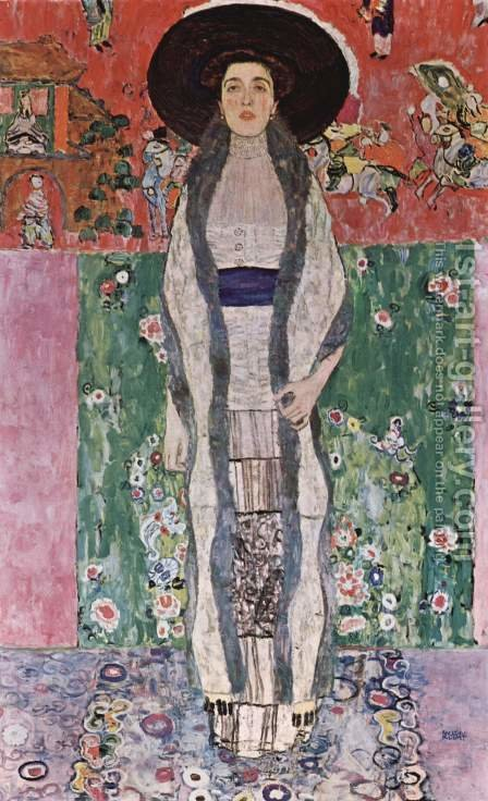 Gustav Klimt: Portrait Of Adele Bloch Bauer II - reproduction oil painting