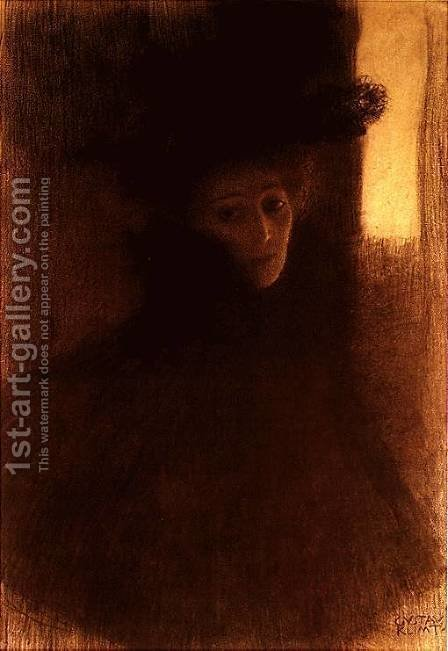 Lady With Cape by Gustav Klimt - Reproduction Oil Painting