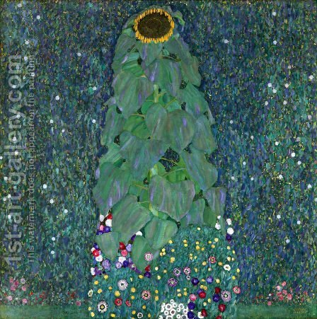 Gustav Klimt: Sunflower - reproduction oil painting