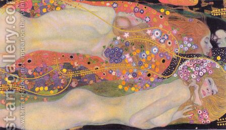 Gustav Klimt: Water Serpents II - reproduction oil painting