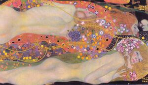 Reproduction oil paintings - Gustav Klimt - Water Serpents II