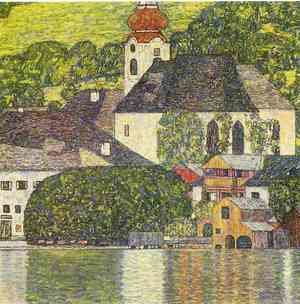Reproduction oil paintings - Gustav Klimt - Church In Unterach On The Attersee