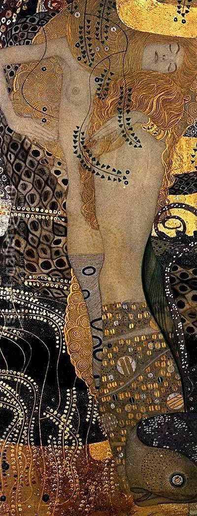 Gustav Klimt: Water Serpents I - reproduction oil painting