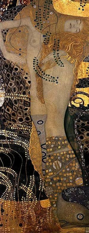 Reproduction oil paintings - Gustav Klimt - Water Serpents I