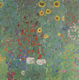 Reproduction oil paintings - Gustav Klimt - Farmergarden With Sunflower