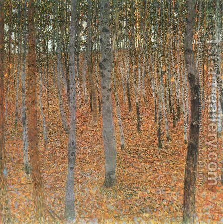 Gustav Klimt: Beech Forest Buchenwald I - reproduction oil painting