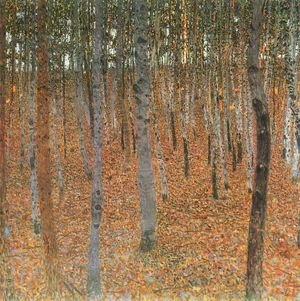 Famous paintings of Trees: Beech Forest Buchenwald I