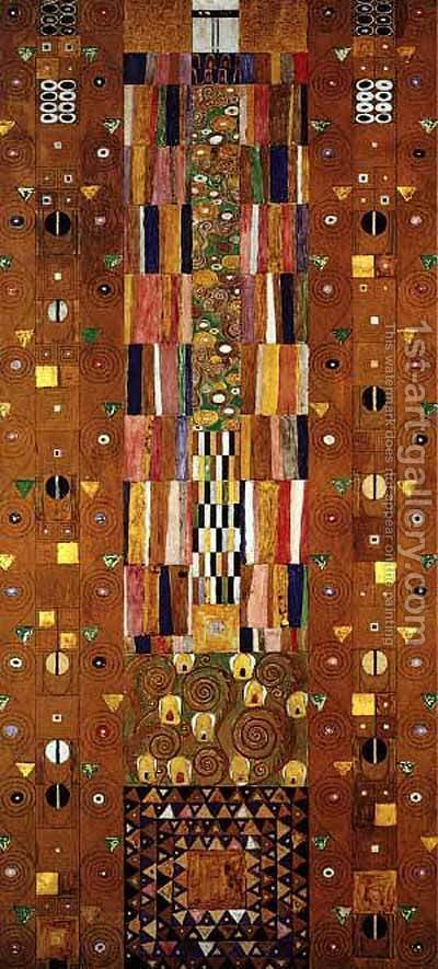Gustav Klimt: Stocletfrieze - reproduction oil painting