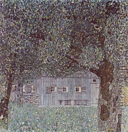 Farmhouse In Upper Austria by Gustav Klimt - Reproduction Oil Painting