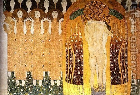 Praise To Joy The God Descended by Gustav Klimt - Reproduction Oil Painting