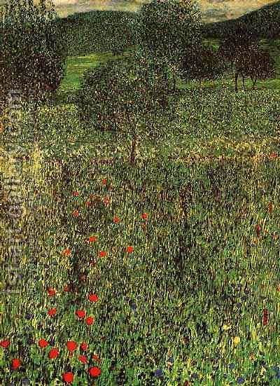 Gustav Klimt: Landscape Of A Garden - reproduction oil painting