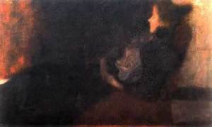 Reproduction oil paintings - Gustav Klimt - Lady At The Fireplace