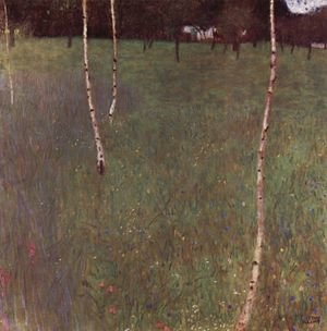 Reproduction oil paintings - Gustav Klimt - Farmhouse With Birches