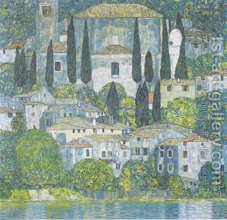 Gustav Klimt: Church In Cassone - reproduction oil painting