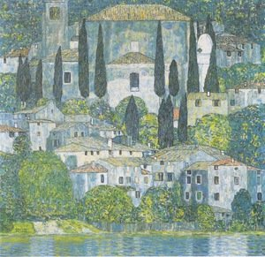 Famous paintings of Trees: Church In Cassone