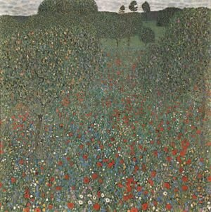Famous paintings of Trees: Poppy Field