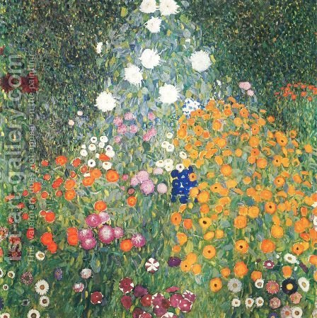 Farm Garden by Gustav Klimt - Reproduction Oil Painting