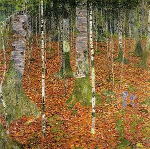 Reproduction oil paintings - Gustav Klimt - Birch Forest