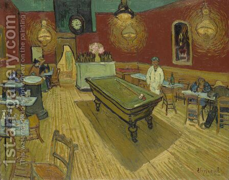 The Night Cafe In The Place Lamartine In Arles by Vincent Van Gogh - Reproduction Oil Painting