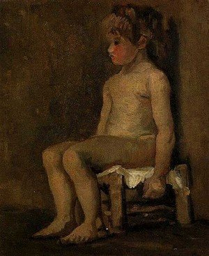 Reproduction oil paintings - Vincent Van Gogh - Nude Study Of A Little Girl Seated