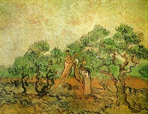 Reproduction oil paintings - Vincent Van Gogh - Olive Picking III
