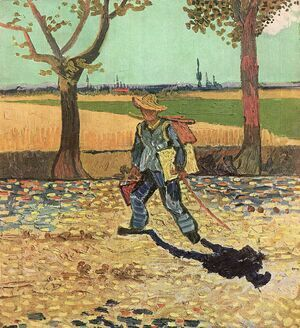 Reproduction oil paintings - Vincent Van Gogh - The Painter On His Way To Work