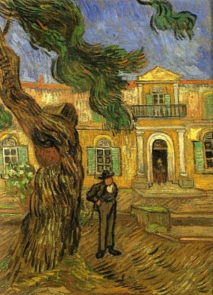 Reproduction oil paintings - Vincent Van Gogh - Pine Trees With Figure In The Garden Of Saint Paul Hospital