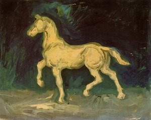 Famous paintings of Horses & Horse Riding: Plaster Statuette of a Horse