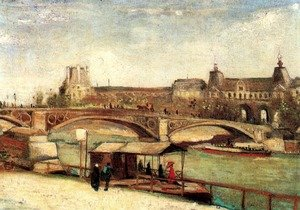 Reproduction oil paintings - Vincent Van Gogh - The Pont Du Carrousel And The Louvre