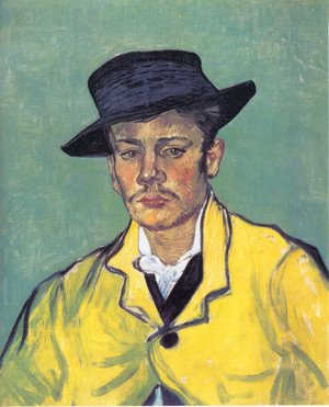 Famous paintings of Men: Portrait Of Armand Roulin