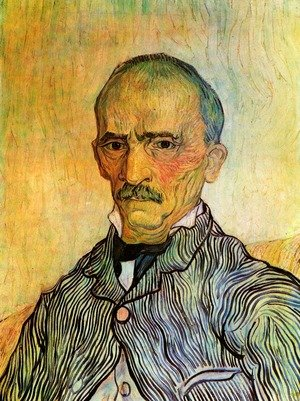 Famous paintings of Men: Portrait Of Trabuc An Attendant At Saint Paul Hospital