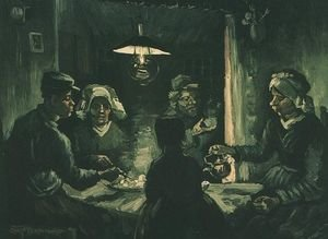 Reproduction oil paintings - Vincent Van Gogh - Potato Eaters The II