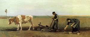Famous paintings of Domestic Animals: Potato Planting