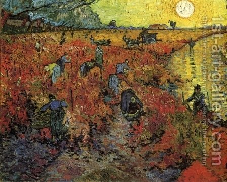 The Red Vineyard by Vincent Van Gogh - Reproduction Oil Painting