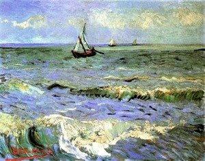 Famous paintings of Nautical: Seascape At Saintes Maries II