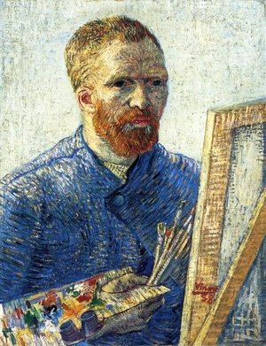Famous paintings of Men: Self Portrait In Front Of The Easel