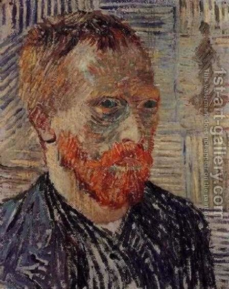 Vincent Van Gogh: Self Portrait With A Japanese Print - reproduction oil painting