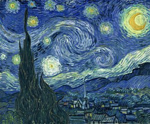 Famous paintings of Figurative: Starry Night