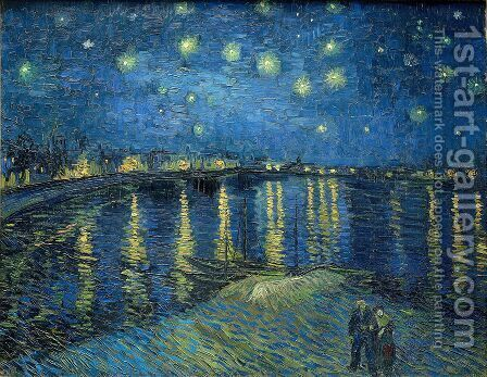 Vincent Van Gogh: Starry Night Over The Rhone - reproduction oil painting