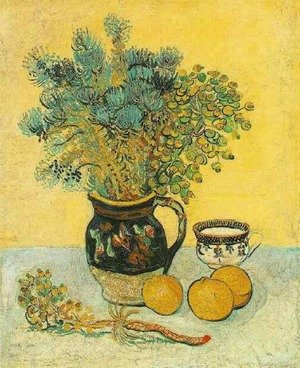 Reproduction oil paintings - Vincent Van Gogh - Majolica Jug With Wildflowers