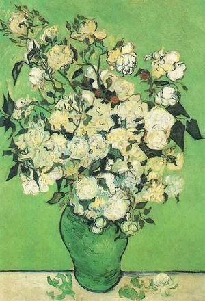 Reproduction oil paintings - Vincent Van Gogh - Pink Roses In A Vase