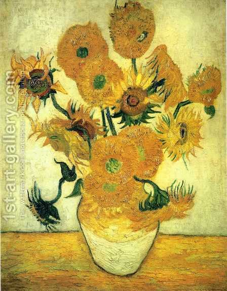 Vase With Fifteen Sunflowers III by Vincent Van Gogh - Reproduction Oil Painting