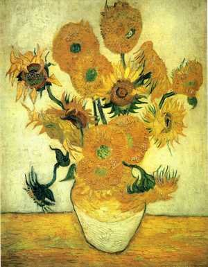 Reproduction oil paintings - Vincent Van Gogh - Vase With Fifteen Sunflowers III