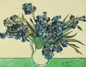 Reproduction oil paintings - Vincent Van Gogh - Vase With Irises