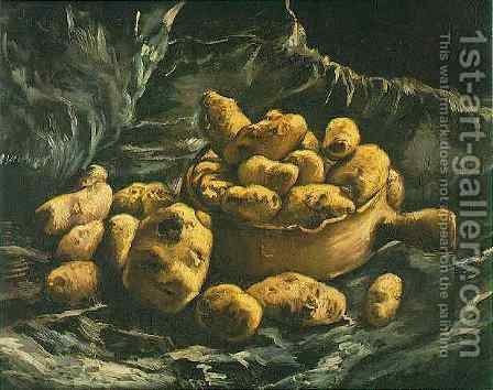 Vincent Van Gogh: Still Life With An Earthen Bowl And Potatoes - reproduction oil painting