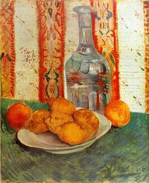 Reproduction oil paintings - Vincent Van Gogh - Still Life With Decanter And Lemons On A Plate