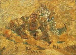 Reproduction oil paintings - Vincent Van Gogh - Still Life With Grapes Pears And Lemons