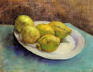 Reproduction oil paintings - Vincent Van Gogh - Still Life With Lemons On A Plate